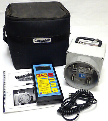 CONSULAB VCE 791-02 PLUG-IN METER TESTER w/ 791-01 REMOTE CONTROL UNIT, MANUAL +