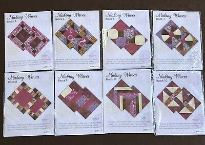 JoAnn Making Waves Quilt Top Block of the Month Setting Kit Patterns Fabric Lot