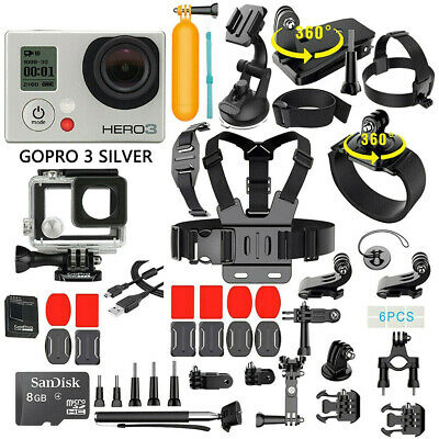 GoPro HERO 3 Silver Edition Action Camera + 40PCS Accessory + Waterproof Case