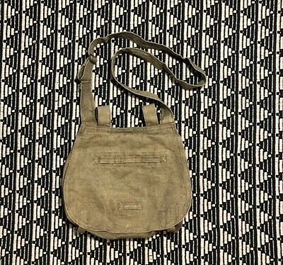 Original 1950's Czech Czechoslovakia Military Canvas Bread Bag Shoulder Strap