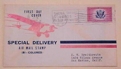 US FDC 16cents Special Delivery #CE2 Cacheted 1936