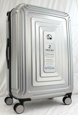 "Delsey Reflection 24"" Medium Checked Hardside Spinner Suitcase Silver"