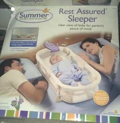 Rest Assured Travel Baby Infant Sleeper Bed By SUMMER, Soothing Sounds, Musical