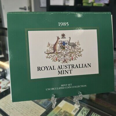 Australia 1985 Uncirculated 7 Coin Year Set Royal Australia Mint – First $1