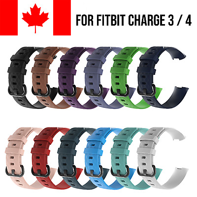For Fitbit Charge 3 Band Replacement Wrist Strap Silicone Smart Watch Bands
