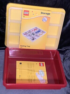 BRAND NEW LICENSED LEGO 4092 Red Storage Box S w/ Sorting Tray 4096 Lid SEALED