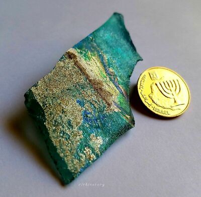 ⚱️ Genuine • Ancient Roman Iridescent Glass Fragment from Israel • Holy Land ⚱️