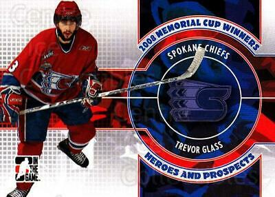 2008-09 ITG Heroes and Prospects Memorial Cup Winners #8 Trevor Glass