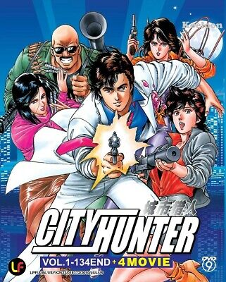 DVD Anime City Hunter Complete Series (1-134 End) +4 Movies (English Subtitle)