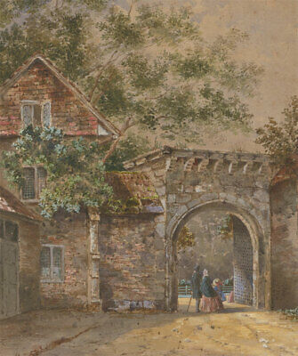 Late 19th Century Watercolour - Victorian Street Scene