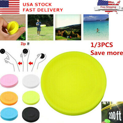3/1x Mini Silicone Ultimate Flying Disc Toy Pocket Flexible UFO Saucer Spin Game