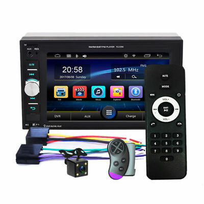 "Double 2DIN 7"" Car Stereo Radio Mp5 Player Touch Screen Bluetooth Radio + Camera"