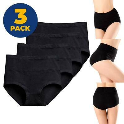 3 PACK Womens High Waisted Briefs Pants  Tummy Control Underwear Magic Knickers