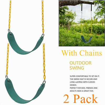 2PACK Heavy Duty Swing Seat Set Accessories Replacement with Coated Chain Kids