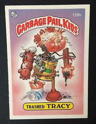 Trashed Tracey 129b Garbage Pail Kids UK Series 3(1987)Wanted Poster ~Near Mint