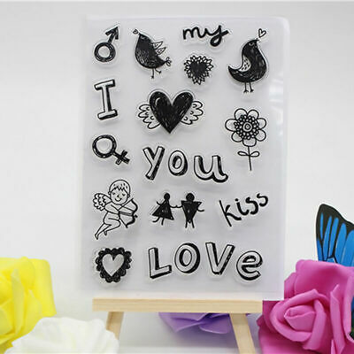 Love & Heart Silikonstempel Stempel Clear Stamp Scrapbooking DIY Briefmarke T0G0