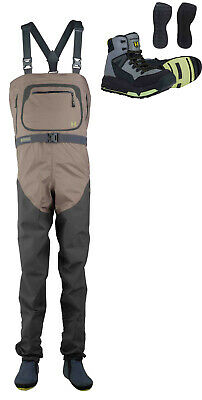 Hodgman H5 Stocking Foot Breathable Fly Fishing Chest Wader + H5 H-Lock Boot