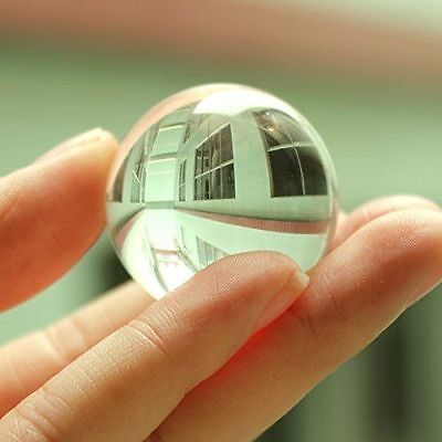 50mm Glass Crystal Paper Weight Clear Natural Sphere Quartz Ball Magnifying