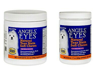 ANGELS EYES NATURAL TEAR STAIN SOFT CHEWS 120 or 240 COUNT CHICKEN 8.5oz or 17oz
