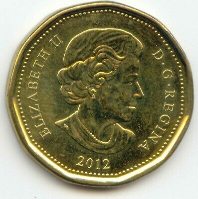 Canada 2012 Loonie Canadian One Dollar $1 EXACT COIN SHOWN