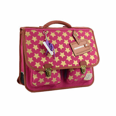 Cartable Bensimon Stars 38Cm 2 Compartiments Rose