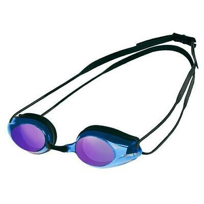Arena Tracks Mirrored Racing Goggles - Black / Blue