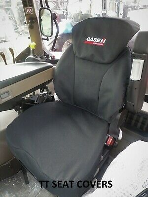 case puma tractor  grammer seat cover  / black with logo