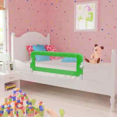 vidaXL 2x Toddler Safety Bed Rail Green 102x42cm Cotbed Protective Gate Guard#