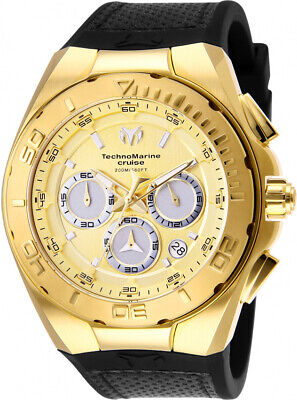 Technomarine TM-117004 Cruise Men's 45mm Chronograph Gold-Tone Rubber Watch