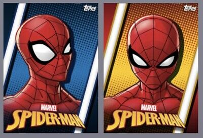 Topps Marvel Collect Card Trader Many Expressions of Spider-Man Rare Motion Set