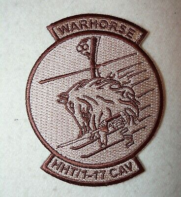"""US Army HHT, 1st Bn, 17th Cavalry Regiment """"Warhorse"""" Desert Subdued Patch"""