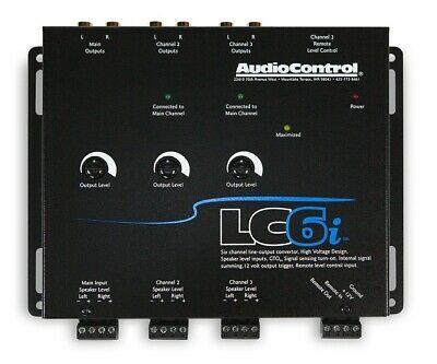 AudioControl LC6i 6-Channel Line Output Converter With Internal Summing(BLACK)