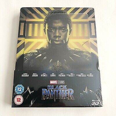 Marvel Black Panther Blu-ray [3D+2D] Steelbook [UK] Lenticular Exclusive!