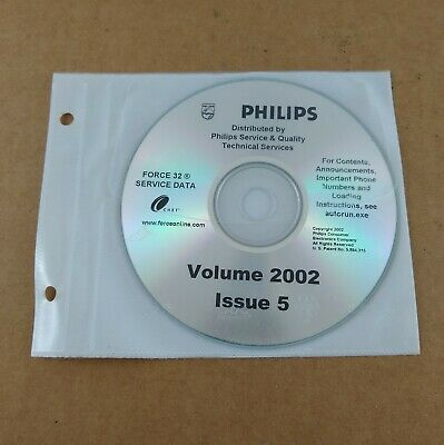 Philips Force 32 Service Data CD Volume 2002 Issue 5