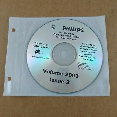Philips Force 32 Service Data CD Volume 2003 Issue 2