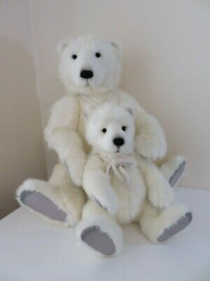 Charlie Bears Portia Prema Plush Polar Bear Set New 22 Inch 16 Inch