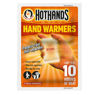 Hothands Hand Warmers 2Pk Heat Hot Pack Portable Pocket Heater Travel Pairs 10Hr