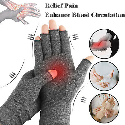 Compression Arthritis Gloves Hand Support Wrist Brace Relief Carpal Tunnel Pain