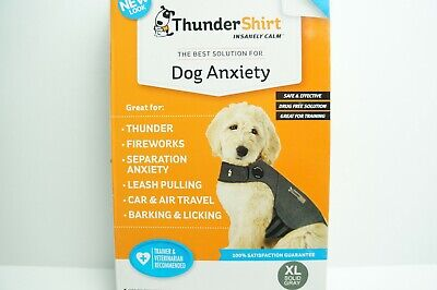 ThunderShirt Classic Dog Anxiety Calming Jacket, Solid Gray, X-Large Dog XL NEW