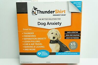 ThunderShirt Classic Dog Anxiety Calming Jacket, Solid Gray, X-Small Dog XS NEW
