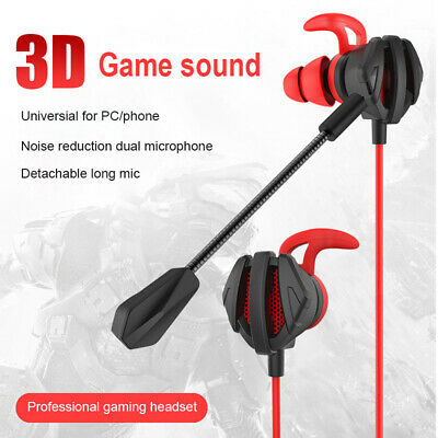 G6 Gaming Headset Wired Headphone In-ear Earbuds Bass 3D Sound With Stereo Mic
