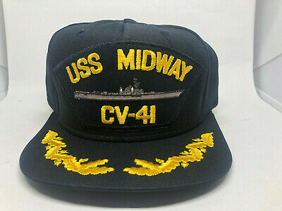 93871bd69 USS MIDWAY CV-41 Dont Tread On Me Baseball Hat Cap Navy Yellow ...