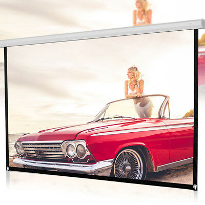 5 scales 16:9 HD Projector Screen Home Cinema Theater Projection Portable White