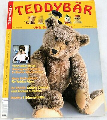 TEDDY BAR MAGAZINE VINTAGE - ISSUE 2/2008 - 70 PGS with 3 FABULOUS BEAR PATTERNS