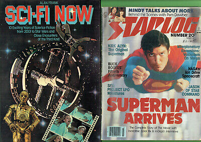 #SS.   LOT OF SIX (6)  LATE 1970s  SCI-FI  SCIENCE FICTION  MAGAZINES