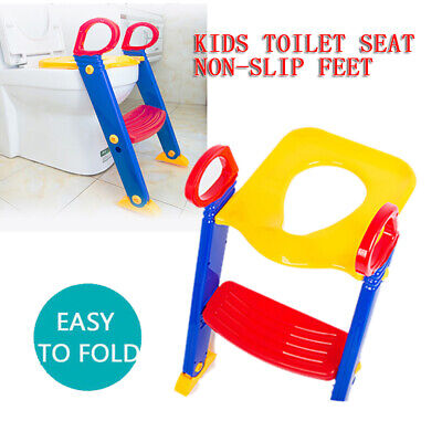Toddler Baby Toilet Seat Ladder Kids Non Slip Safety Potty Training Step Trainer