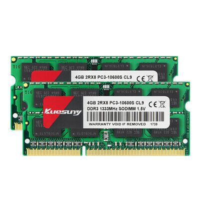 For Samsung 2X 4GB DDR3 2RX8 PC3-10600S 1333mhz 204pin SODIMM Laptop Memory @MT