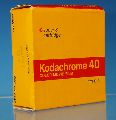 Kodachrome 40 Farbfilm Super 8 15m KMA 464 color movie film cartridge - 61675