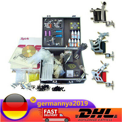 Tattoomaschine Set Netzgerät Nadeln Starter-Set Tattoo Kit DE DHL