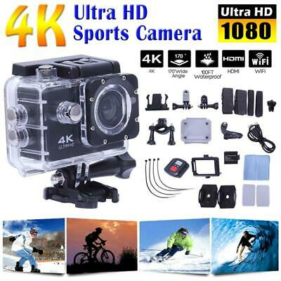"Ultra 4K Full HD 1080P Waterproof Sports Camera DV WiFi Action Camcorder 2"" UK"